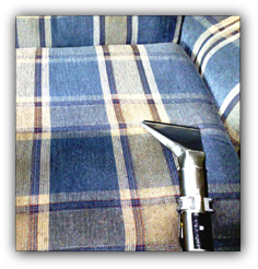 Upholstery cleaning service provided at Hains Dry Carpet Cleaning.