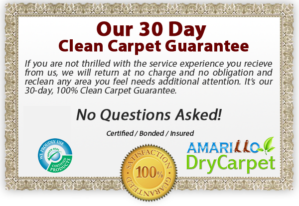 clean carpet guarantee - Amarillo Dry Carpet Cleaning