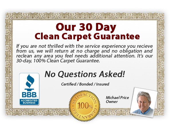 Amarillo Dry Carpet Cleaning - Our Guarantee