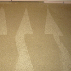 Amarillo dry carpet cleaning - stain after