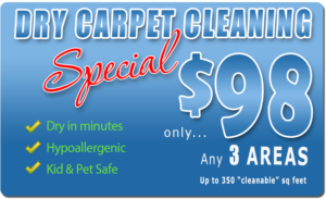 Amarillo Dry Carpet Cleaning $98 3-Room Special