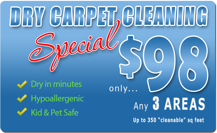 Carpet Cleaning Special - 3 Rooms only $98
