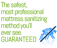 The safest, most professional mattress sanitizing method you'll ever see. Guaranteed.