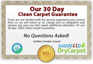 Amarillo Dry Carpet & Upholstery Cleaning - 30 Day Guarantee