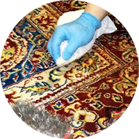 area rug cleaning amarillo - dye test