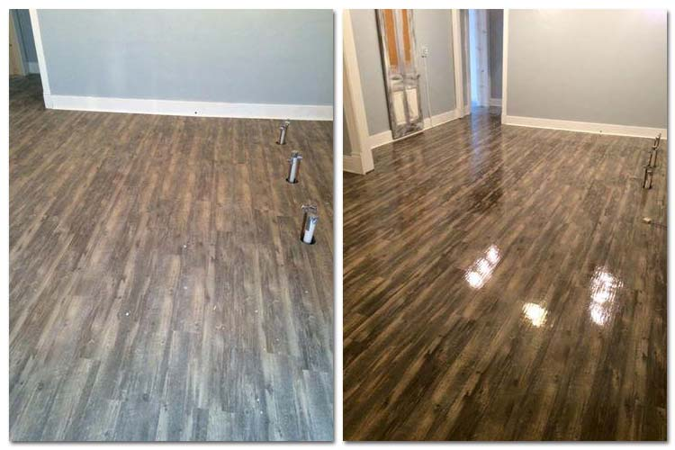 Wood floor cleaning and polishing