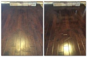 Wood floor cleaning and polishing - Amarillo, TX