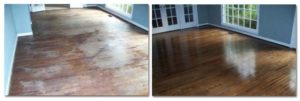 Wood floor cleaning and polishing services
