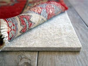 custom cut area rug pads