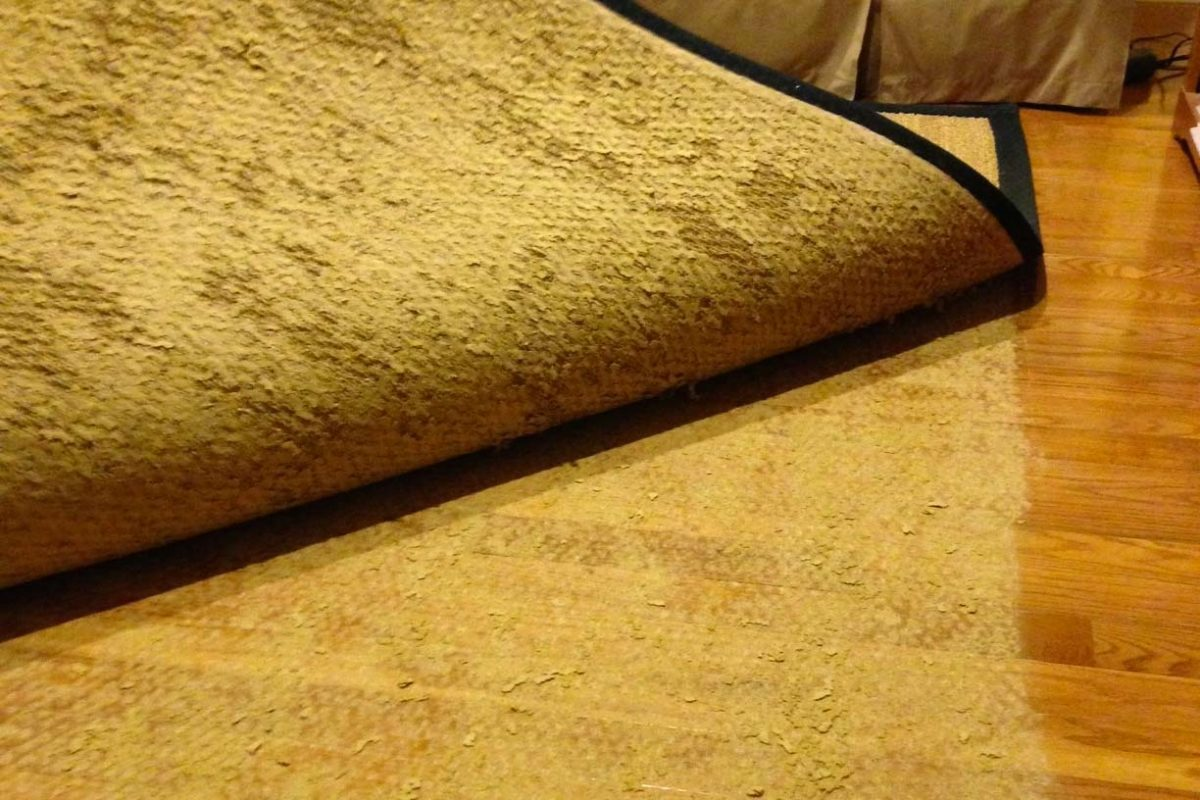 inferior rug pads can damage hardwood flooring