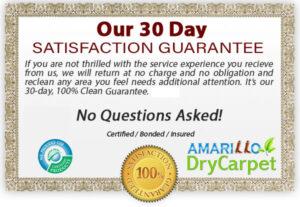 Amarillo DryCarpet Services Clean Guarantee